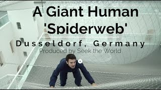 Germany: A Giant Human Size Spiderweb
