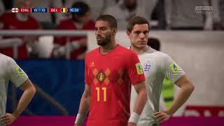 Inglaterra vs Bélgica Mundial Russia 2018 fifa 18
