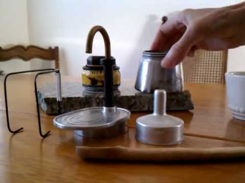 Mini Expres espresso maker and Killer Bee alcohol stove