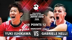 Yuki Ishikawa vs Gabriele Nelli | Japan vs Italy | Highlights | Men's Volleyball World Cup 2019