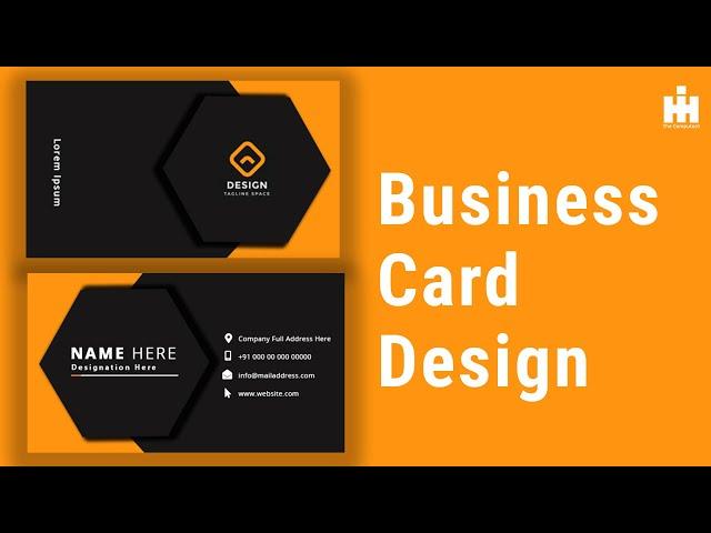 Business Card Design in Photoshop | কিভাবে আপনি আপনার পার্সোনাল বিসনেস কার্ড বানাবেন ফটোশপ এ