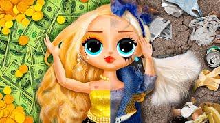Богатая и бедная близняшки / 10 идей для кукол ЛОЛ Сюрприз
