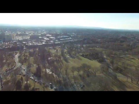 Washington Park & Empire State Plaza Albany NY Phantom 3 Professional Drone