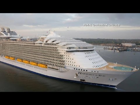 World's largest cruise ship, Symphony of the Seas, takes to water for first time