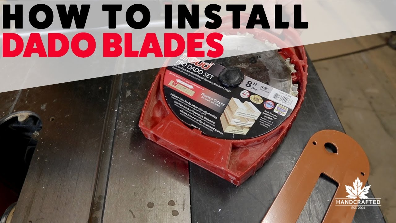 How to install a dado blade youtube how to install a dado blade greentooth