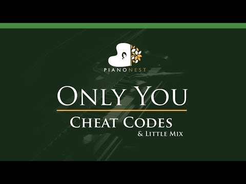 Cheat Codes & Little Mix - Only You - LOWER Key (Piano Karaoke / Sing Along)