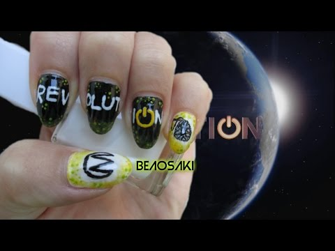 #6-Revolution inspired nail art (serie TV nails)