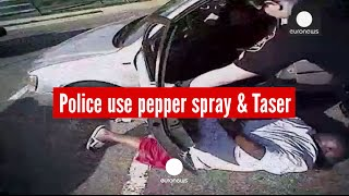 Police body cam: Suspect having stroke is pepper-sprayed and tasered, US