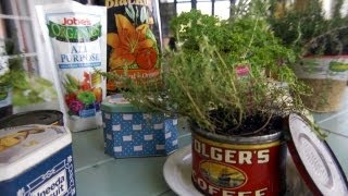 How to Plant Herbs in Tin Containers | At Home With P. Allen Smith