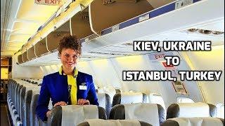 Inside Boeing 737-300 Ukraine International Airlines Kiev to Istanbul