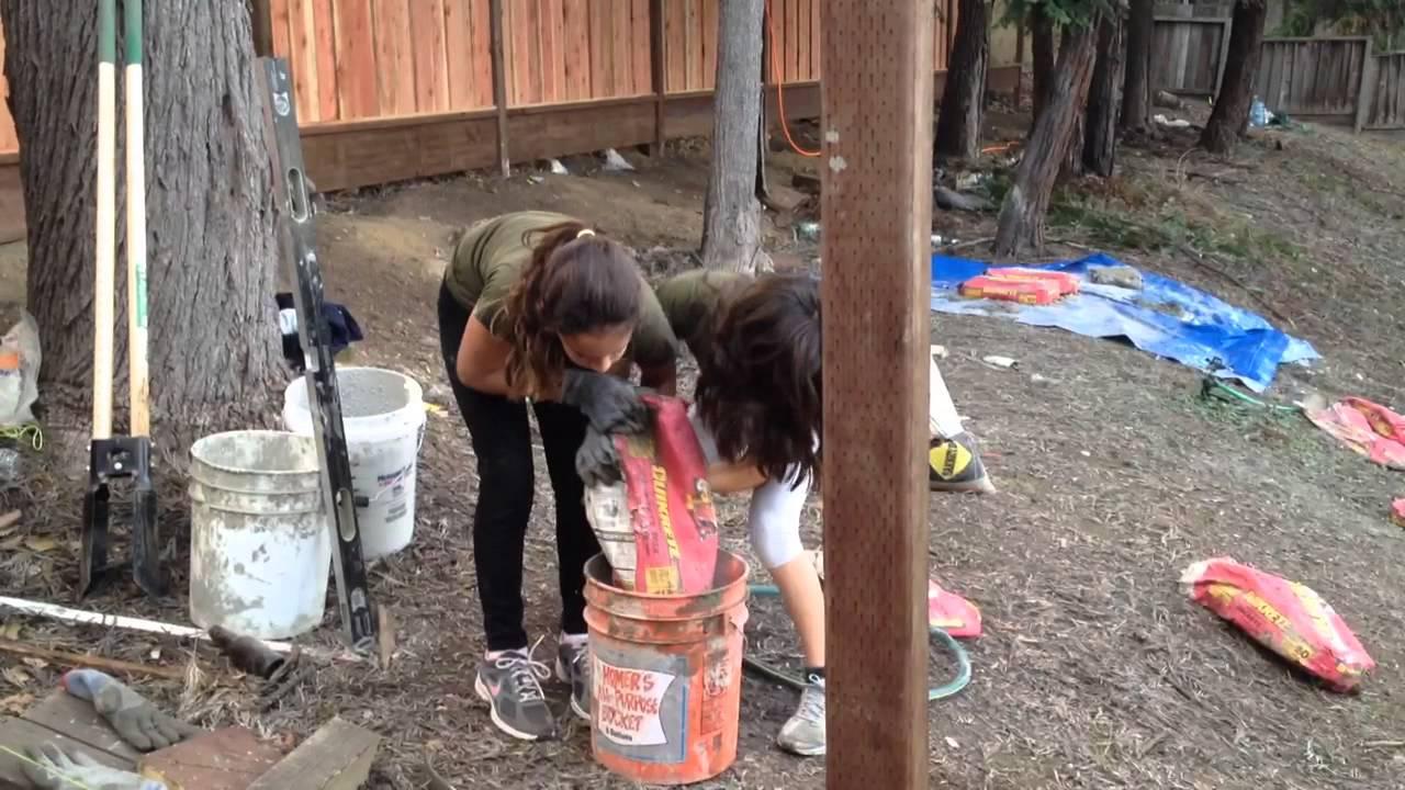 girls in cement