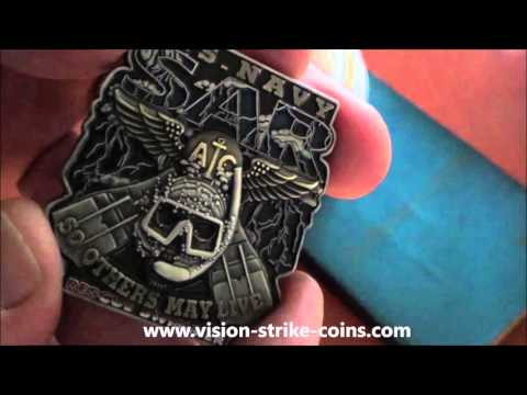 US Navy SAR Rescue Swimmer Coin From Vision-Strike-Coins.com!