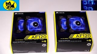 corsair air series af120 led quiet edition high airflow fan twin pack unboxing and review