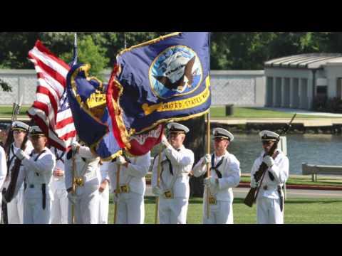 US Naval Academy 2017 Plebe Summer Dress Parade by 4th Class regiment, Class of 2021.  July 21, 2017