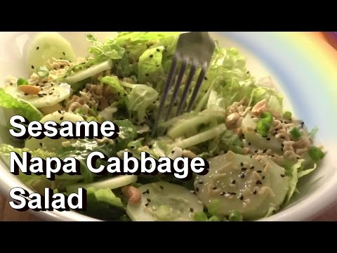 Sesame Napa Chinese Cabbage Salad Recipe & Tips for Growing