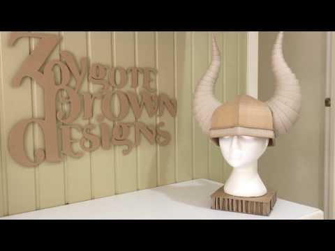 How to make a Cardboard Viking Helmet with Horns