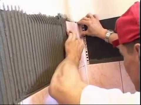 13. Укладка керамической плитки на стены