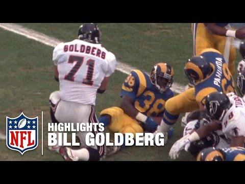 WWE Star Bill Goldberg NFL Highlights | Atlanta Falcons
