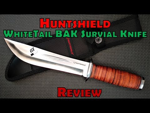 Review Of The HUNTSHIELD WhiteTail BAK Survival Knife - Canadian Tire Stores ONLY