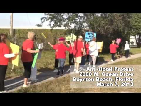 Palm Beach Leisureville Anti-Hotel Protesters See Red