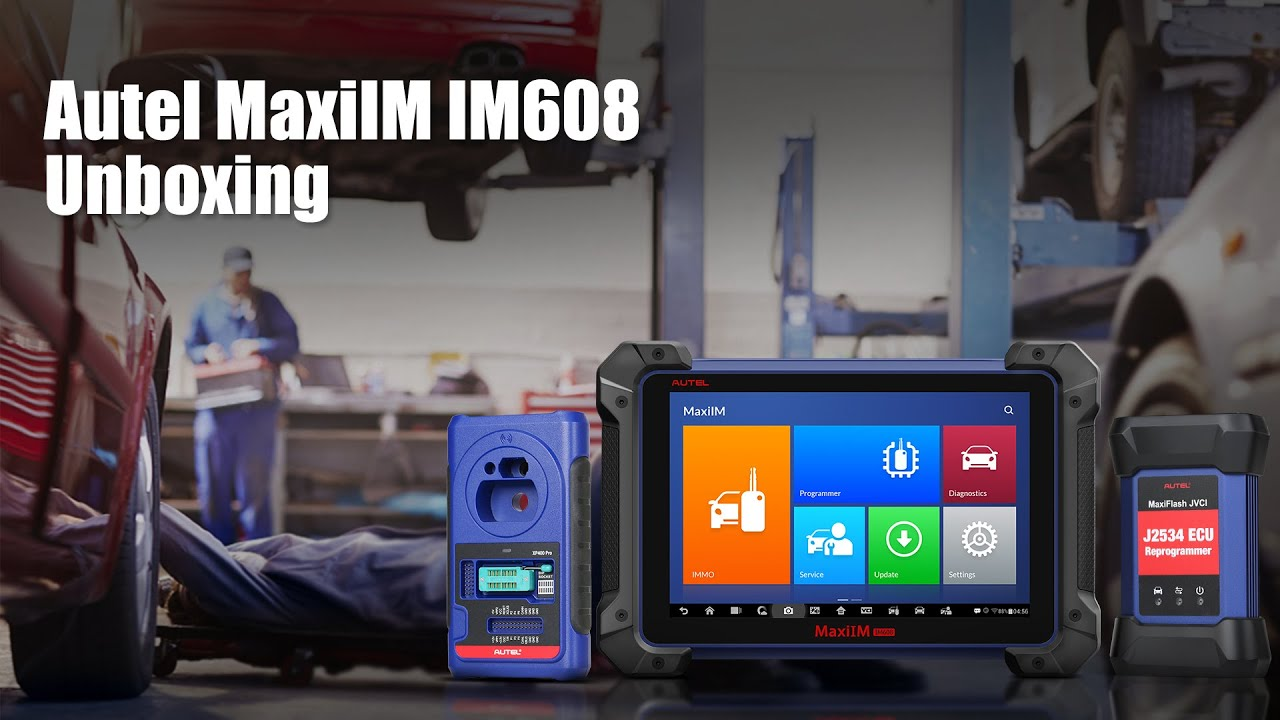 Autel MaxiIM IM608 All-IN-ONE Diagnostic Programmer Unboxing - YouTube