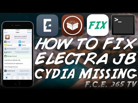 iOS 11.3.1/11.2.x - HOW TO FIX ELECTRA JAILBREAK CYDIA MISSING [TUTORIAL]