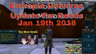 Entropia Universe Update Arkadia Moon Deeds for Jan 2018