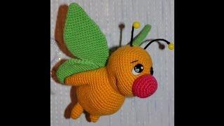 Бабочка крючком.Игрушка амигуруми.Как связать голову,туловище,крылья бабочки.Butterfly.Мотылёк Макс