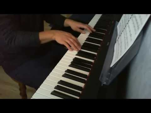 Piano accompaniment for air on the G string in D major
