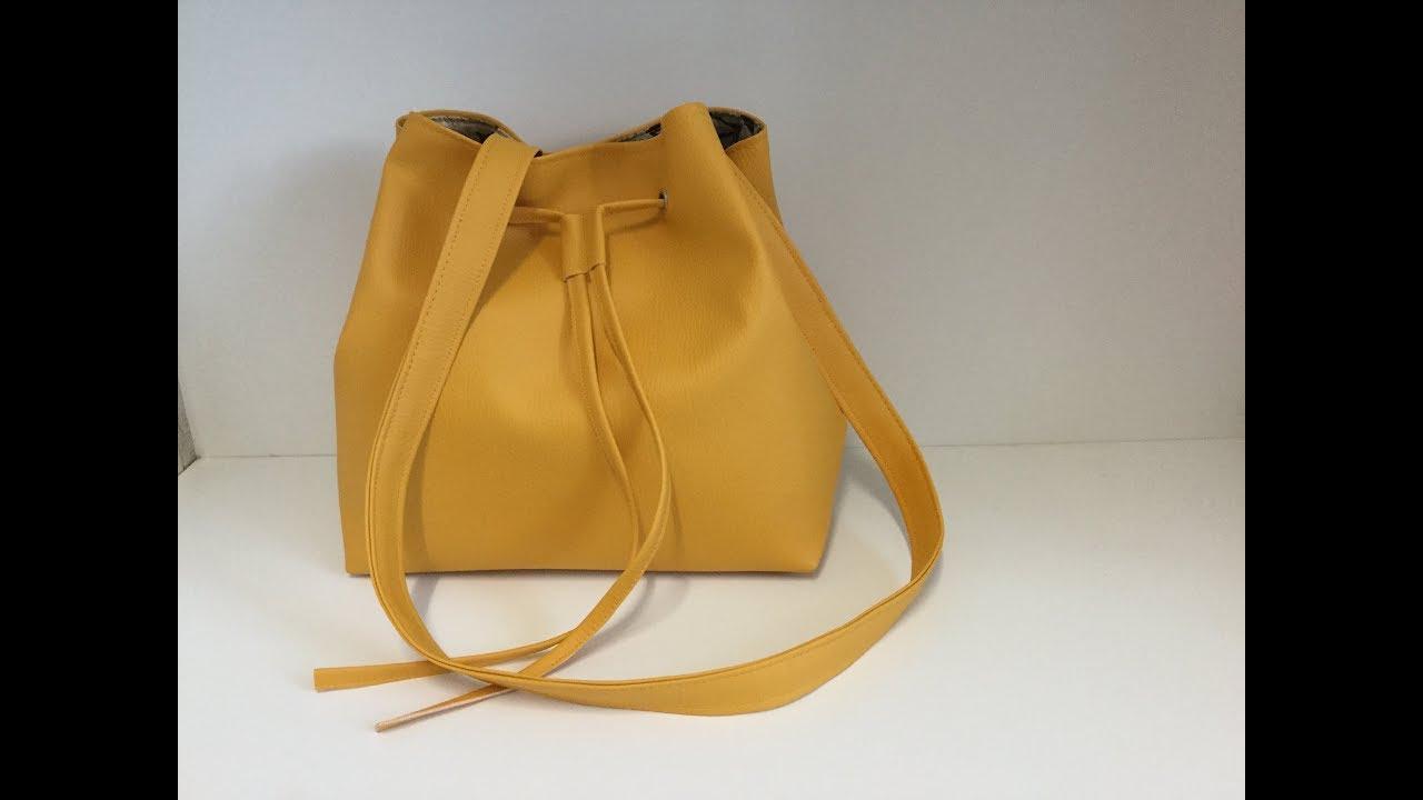 8bcb0e3617 Coudre un sac seau en similicuir - Tuto Couture Madalena - YouTube