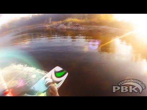 FLYSURFER SPEED 3 12m CE - FLAT WATER SUNSET - KIteboarding Cherry Beach, Toronto, Ontario, Canada