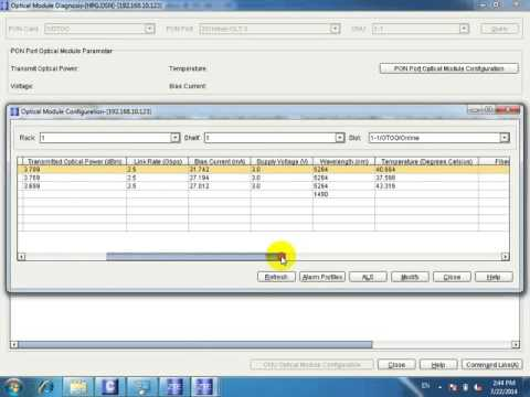 ONU Manage with NMS GPON ZTE