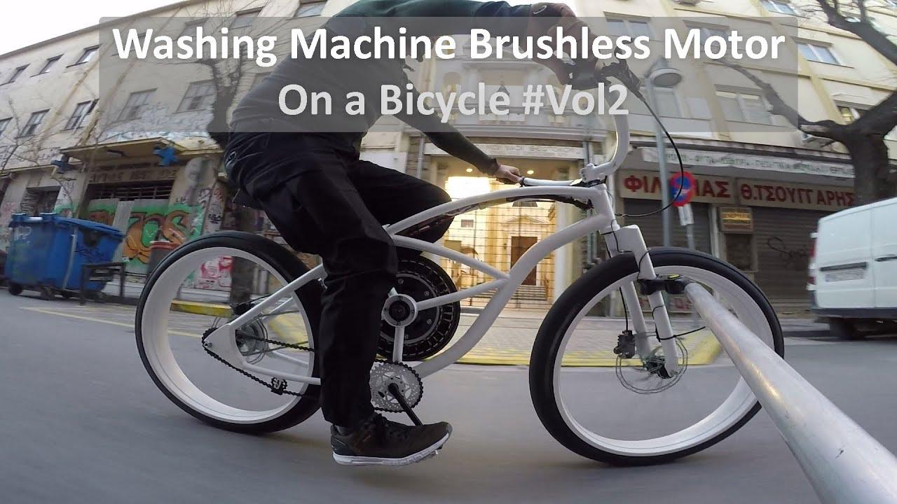 Washing Machine Brushless Motor on a Bicycle 2 (ENG SUBS) #neodymioum_magnets #halbach_array #Vesc