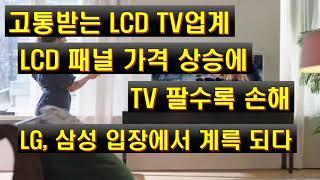 고통받는 LCD TV업계 LCD 패널 가격 상승에 TV…