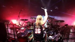 Hannes Van Dahl Sabaton Drumcam ' The Lion from the North' / Helsinki Ice Hall, Finland 24.2.2017