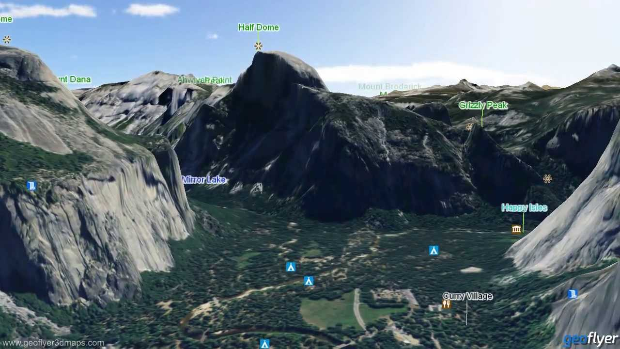 Yosemite National Park Wall Map Mapscom Panoramic Photography - Us national parks interactive map