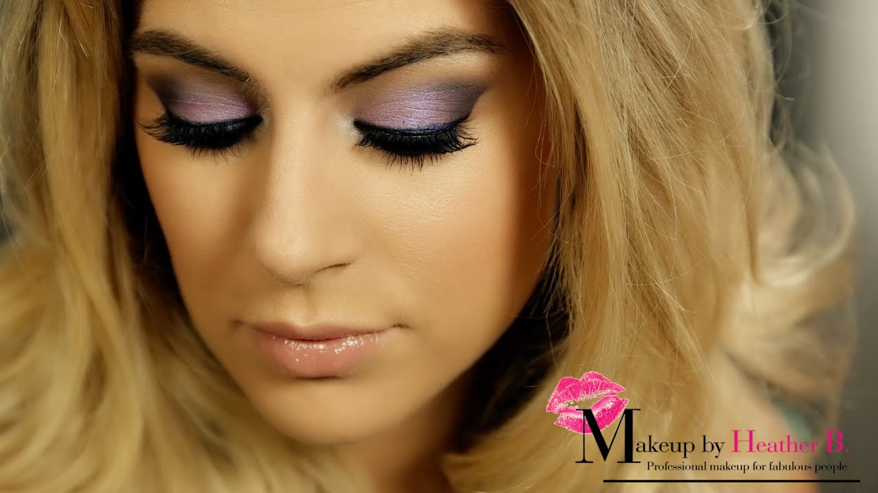These colours are the perfect choice for a smokey eye if you have blue eyes