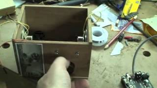 Cigar Box Speaker System for mp3 players