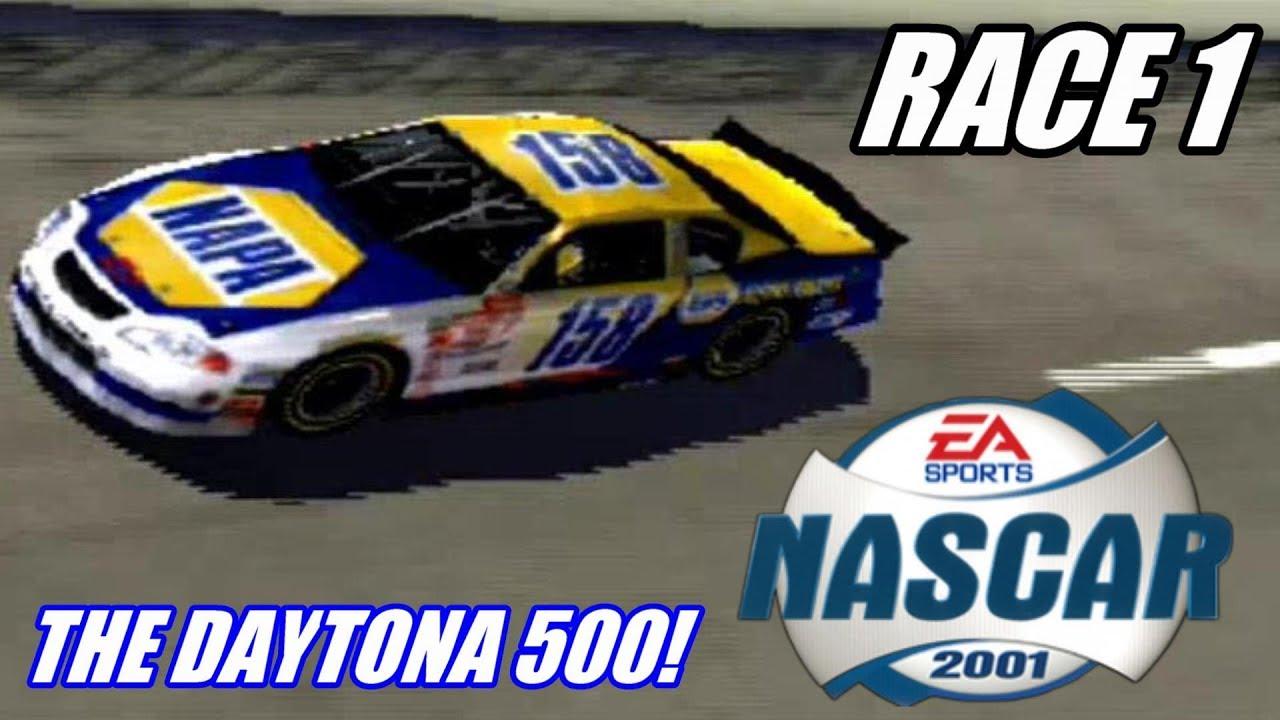 The Daytona 500 Let S Play Nascar 2001 Ps2 Race 1 Youtube