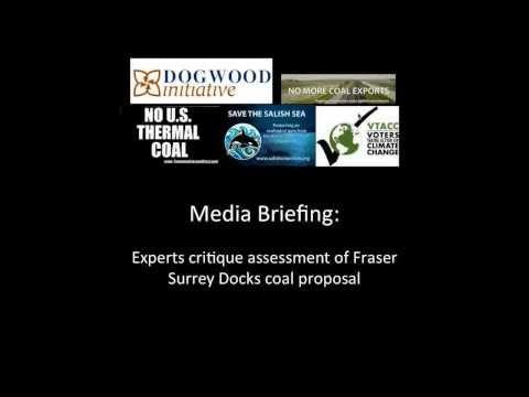 Media Briefing: Experts critique assessment of Fraser Surrey Docks coal proposal