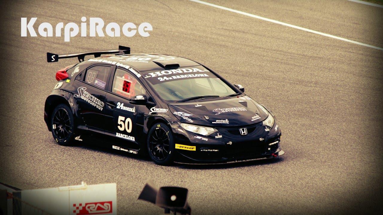 Honda Civic Type R Race Car 24Hours Barcelona