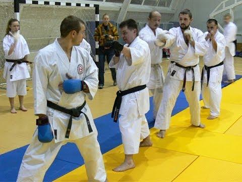 Karate Footwork, Focus Mitt Drills by Seiji Nishimura. Seminar in Moscow 2008 (Part 3/6),