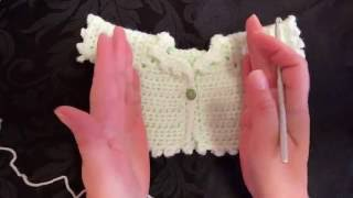 Part 1 Pattern: My Easy Newborn Crochet Cardigan Square shoulders. ...