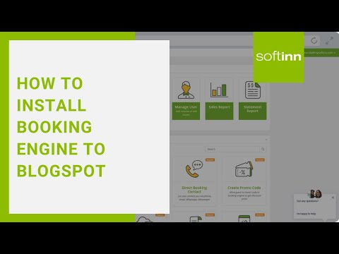 How to Install Booking Engine to Blogspot?