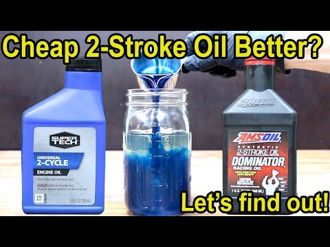 Cheap 2-Stroke Oil Better?  Let's find out!  Amsoil vs SuperTech 2-Cycle Oil.