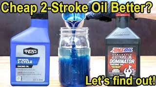 Cheap 2Stroke Oil Better?  Let's find out!  Amsoil vs SuperTech 2Cycle Oil.