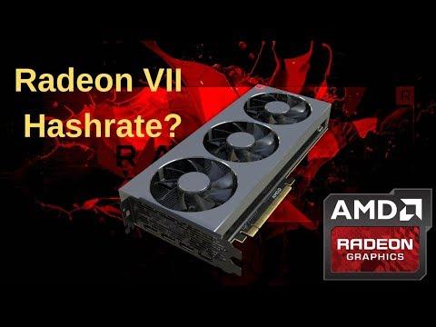 Radeon VII Mining Test (Cryptonight V8, Heavy, ETH, PROGPOW)