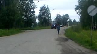 перевозка дт 75МЛ на самодельном трале с мтз 80(, 2012-06-18T11:36:23.000Z)