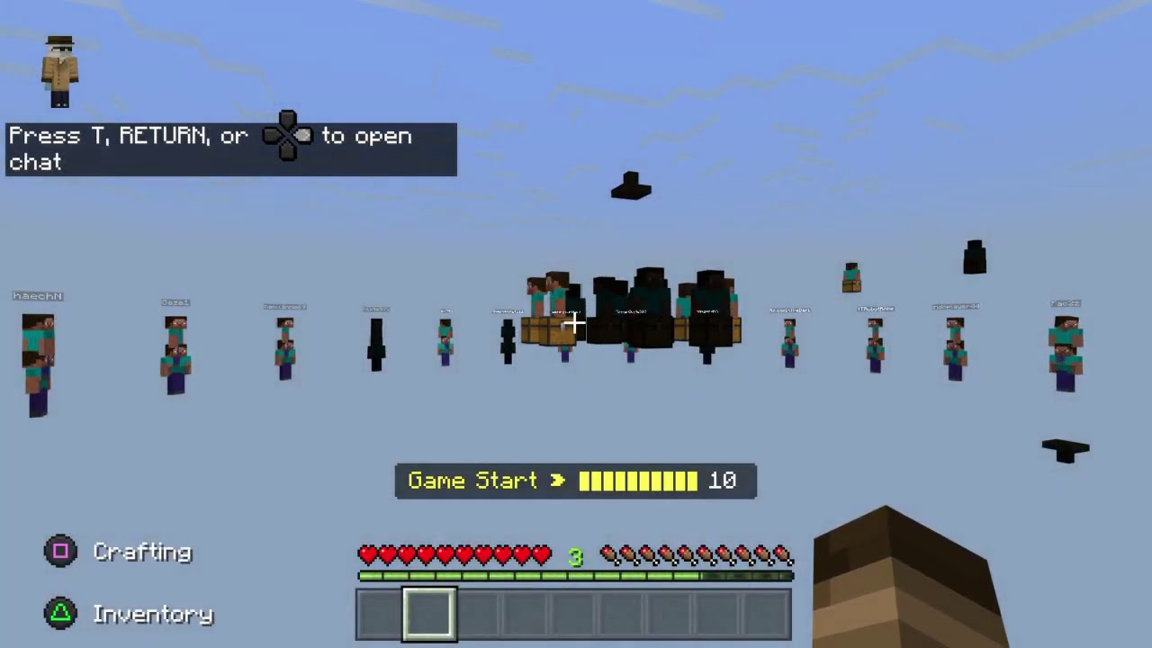 Meeting a hacker on Minecraft PS4
