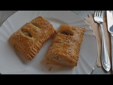 Пироги с Минтаем и Рисом/Из слоенного теста/Pies With Pollock And Puff Pastry Rice